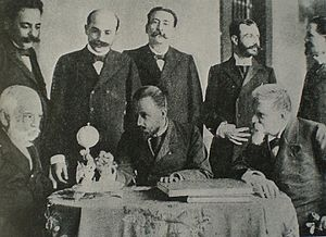 Venezuelan crisis of 1902–03 - Cipriano Castro and his war cabinet in 1902