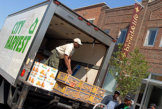 City Harvest (organization) - Refrigerated City Harvest trucks deliver fresh produce to community food programs throughout New York City.
