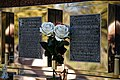 City of London Cemetery floral tribute memorial wall flute vase 1.jpg