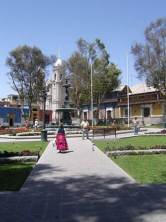 Moquegua - Plaza de Armas of Moquegua, designed by Gustave Eiffel