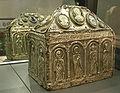 Cividale, museo cristiano, capsella per reliquie, lamina d'argento sbalzata, fine IX-inizio X secolo.JPG