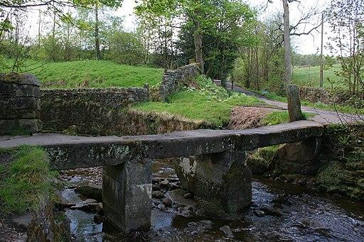 Clapper Bridge, Wycoller - geograph.org.uk - 1282261