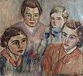 Clara Vogedes - Portrait ihrer vier Töchter, 1935.jpg