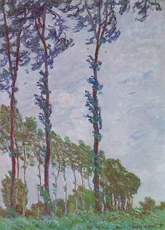 Claude Monet - Poplars (Wind effect)