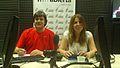 Claudio Rocca y María Isabel Vuotto en el estudio de radio..jpg