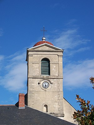 Aureilhan, Hautes-Pyrénées - The bell tower of the church of Saint-Guérin