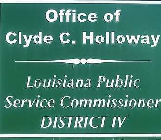 Clyde C. Holloway - Holloway's Public Service Commission office sign in Forest Hill (2009-2016)