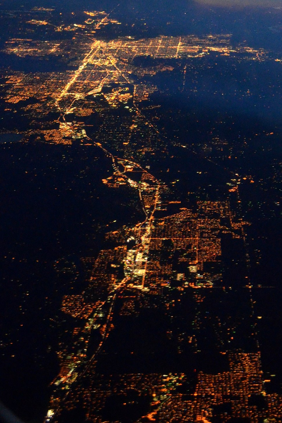 Cmglee Spokane Valley night aerial