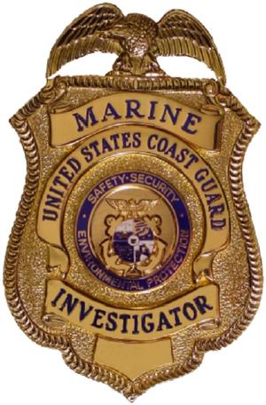 Marine Investigation (USCG) - Image: Coast Guard Marine Investigator Badge