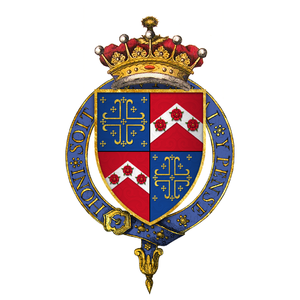William Knollys, 1st Earl of Banbury - Arms of Sir William Knollys, 1st Earl of Banbury, KG