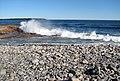 Cobble-pebble shoreline (Seawall, Acadia National Park, Mt. Desert Island, Maine, USA) 15.jpg
