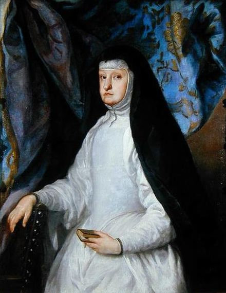 Queen Mariana of Austria, Regent of Spain, the benefactress of the mission to the Ladrones Islands. Coello - Mariana of Austria as a Widow.jpg