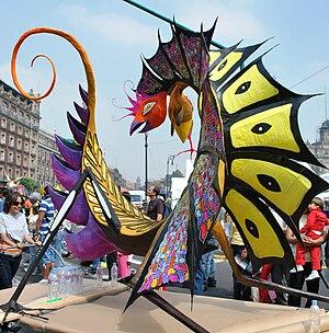 Mexico City Alebrije Parade - Alebrije named Coleccionista de Miradas or Gaze Collector