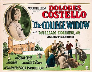 The College Widow (1927 film) - lobby card
