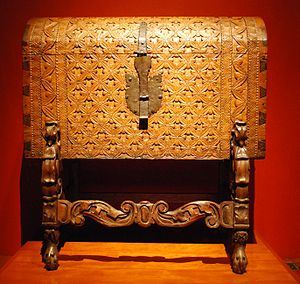Chest (furniture) - Mexican Colonial era chest at the Franz Mayer Museum.