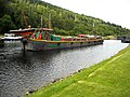 Colourful Barge on Caledonian Canal - geograph.org.uk - 1396867.jpg