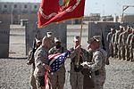 Combat Logistics Battalion 5 cases colors in Afghanistan, heads home to prepare for next mission 120729-M-UP355-001.jpg