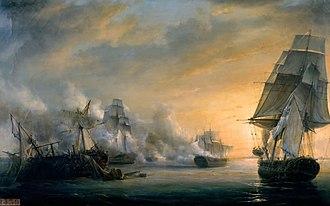 Second Battle of Algeciras - Combat du Formidable, Pierre-Julien Gilbert, 1832