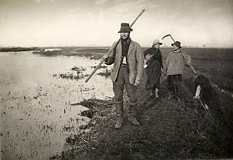 Platinum print - Coming Home from the Marshes, platinum print by Peter Henry Emerson, 1886