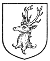 Fig. 386.—Stag's head erased.