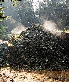 Cumulo all'inizio del processo di compostaggio