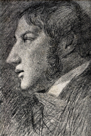 Self-portrait 1806,  pencil on paper,  Tate Gallery London. Constable drew this profile, his only indisputable self-portrait,  by an arrangement of mirrors.