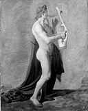 Constantin Hansen - Apollo with his Lyre - KMS4296 - Statens Museum for Kunst.jpg