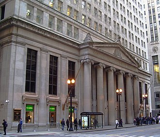 Continental Illinois - The neo-classical Continental Illinois Bank Building at 231 South LaSalle Street in Chicago, Illinois