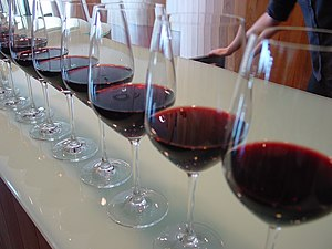 Copas de vino en el Museo Vivancos de Haro en ...