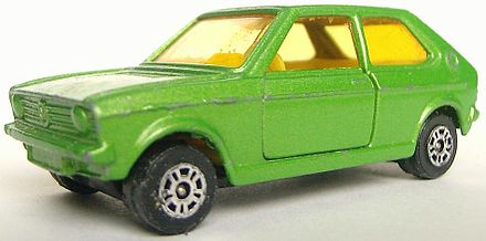 VW Polo Vintage Toy Car.Made in UK