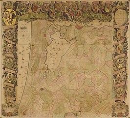Hoogheemraadschap Rijnland map, 2nd edition, 1687