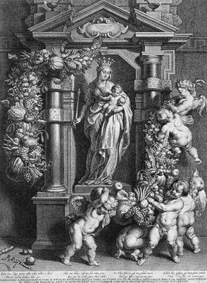 Cornelis Galle the Elder - Mary Queen of Heaven