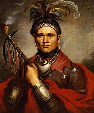 Cornplanter, a Seneca chief, supported the Bri...
