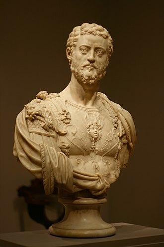 Cosimo I de' Medici, Grand Duke of Tuscany - Portrait bust from the workshop of Benvenuto Cellini, ca. 1550