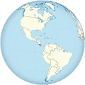 Costa Rica on the globe (Americas centered).svg