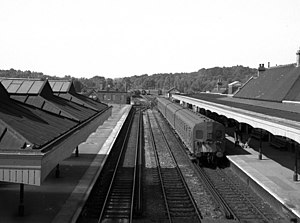 Coulsdon North railway station - View south from the footbridge in 1968