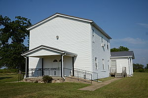 National Register of Historic Places listings in Fulton County, Arkansas - Image: County Line School and Lodge