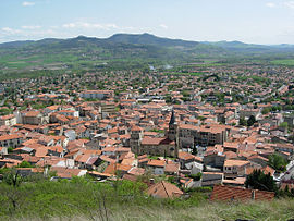 Panoramic view of Cournon-d'Auvergne