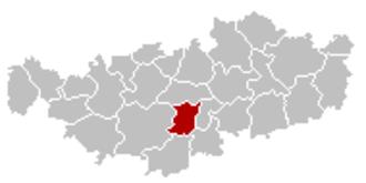 Court-Saint-Étienne - Image: Court Saint Etienne Brabant Wallon Belgium Map