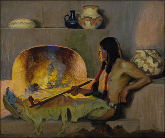 Taos Society of Artists - Image: Couse contentment