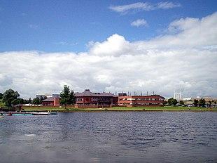 Craigavon Civic Centre from Craigavon Lakes