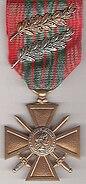 Croix de guerre 1939-1945 Française