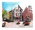 Croquis aquarellé- Kaysersberg - Alsace - France (9105986463).jpg