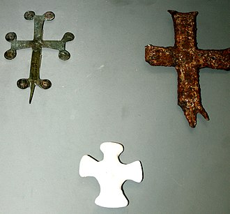 Mingachevir - Crosses from Migachevir church complex, Caucasian Albania