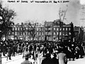 Crowds gather to mourn Triangle fire victims the day after the tragedy, March 26, 1911 (5279080747).jpg