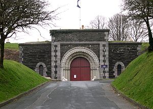 Royal Commission on the Defence of the United Kingdom - The entrance to Crownhill Fort in Plymouth; one of the fortifications recommended by the 1859 Royal Commission.