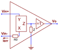 Current feedback op amp simple triangle conveyor.png