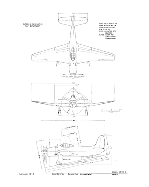 Curtiss XBTC - 3-side view of the XBTC-2.