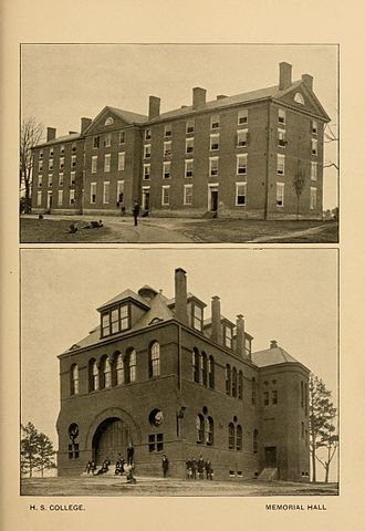 Hampden–Sydney College - Cushing and Memorial Halls, 1894