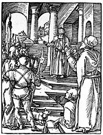 Dürer - Small Passion 15 - Christ Before Pilate.jpg